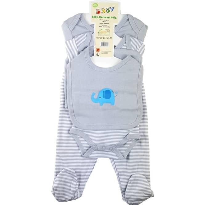 Baby-Erstausstattung - 4-teilig - silber