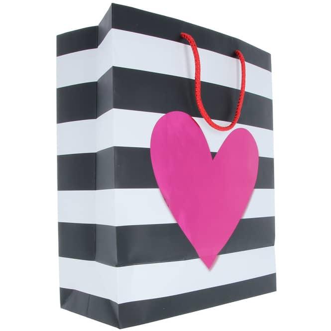 Geschenktasche - Herz - 26 x 32,5 x 12,5 cm