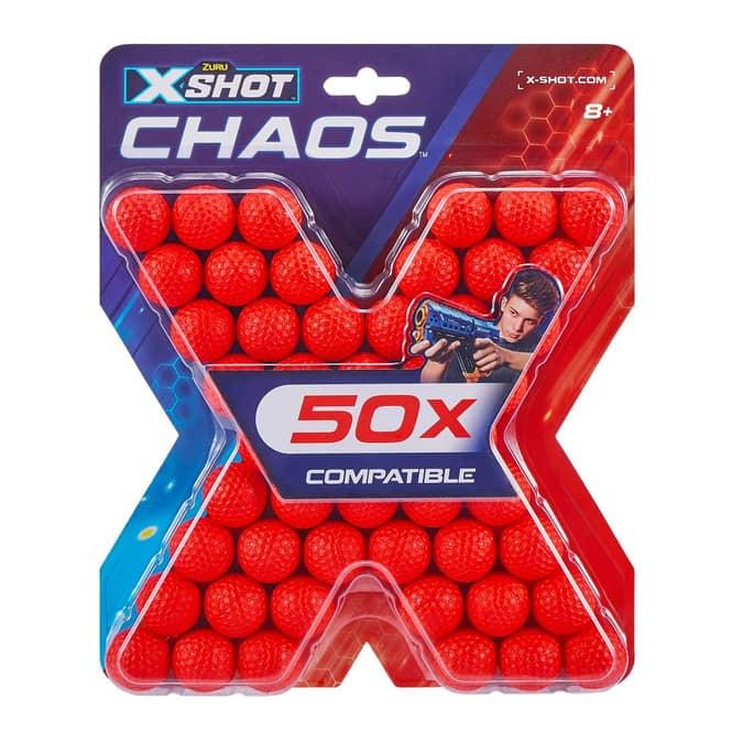 Ersatz-Dart Balls - 50 Stück - passend für X-Shot Chaos