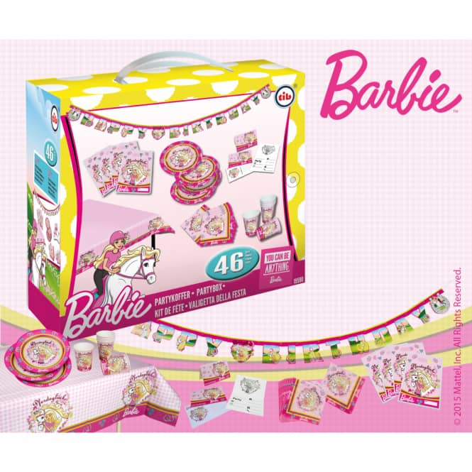 Partykoffer - Barbie - 46 tlg.