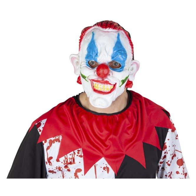 Halloweenmaske - Clown - aus Gummi - für Erwachsene