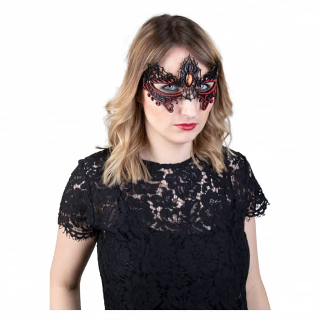 Augenmaske - Spinnen - aus Silikon - für Erwachsene