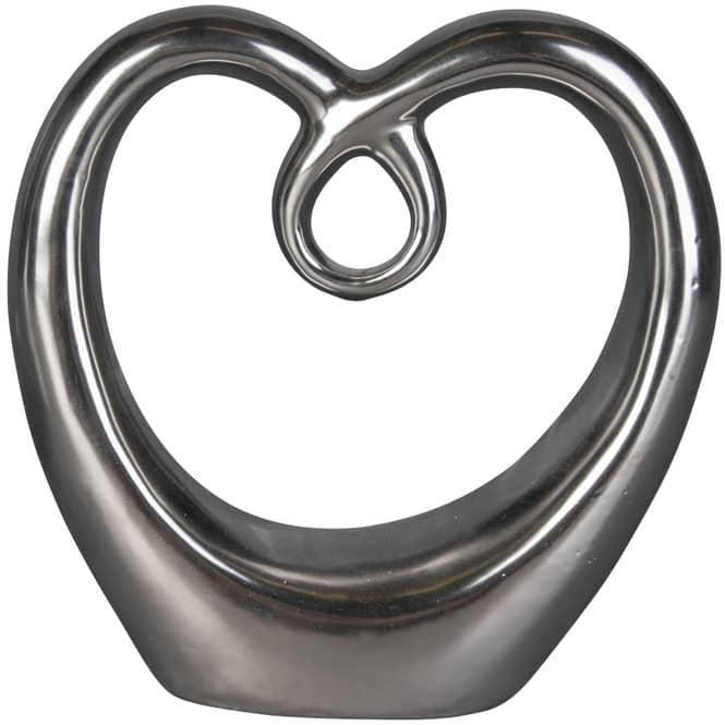 Standdeko - Herz - aus Keramik - 16 x 5,5 x 16 cm