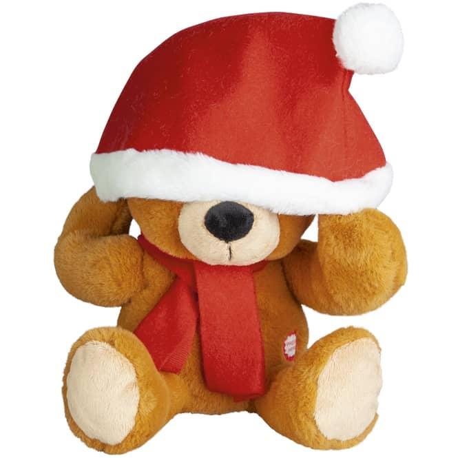 Besttoy - Weihnachtsbär - mit Bewegung und Sound - Sitzhöhe: ca. 26 cm