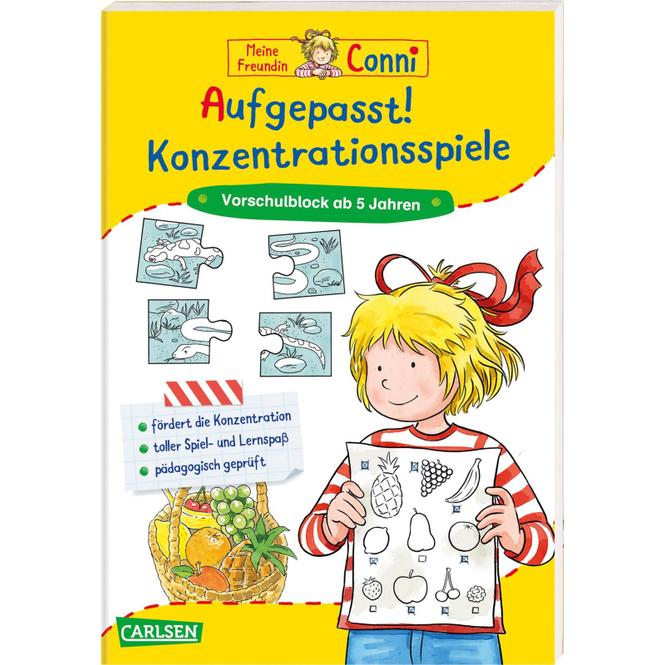 Conni Gelbe Reihe - Aufgepasst! Konzentrationsspiele - Softcover