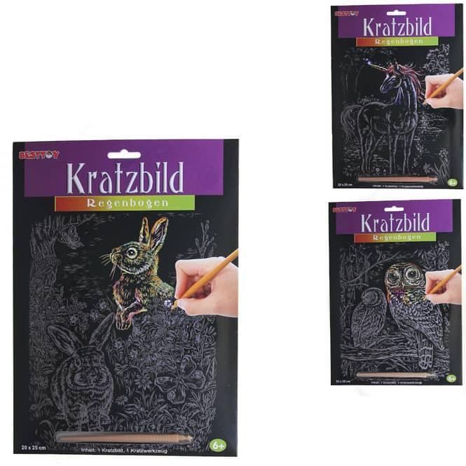 Besttoy - Kratzbild Regenbogen - Serie 2 - 1 Stück