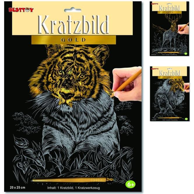 Besttoy - Kratzbild Gold - 1 Stück