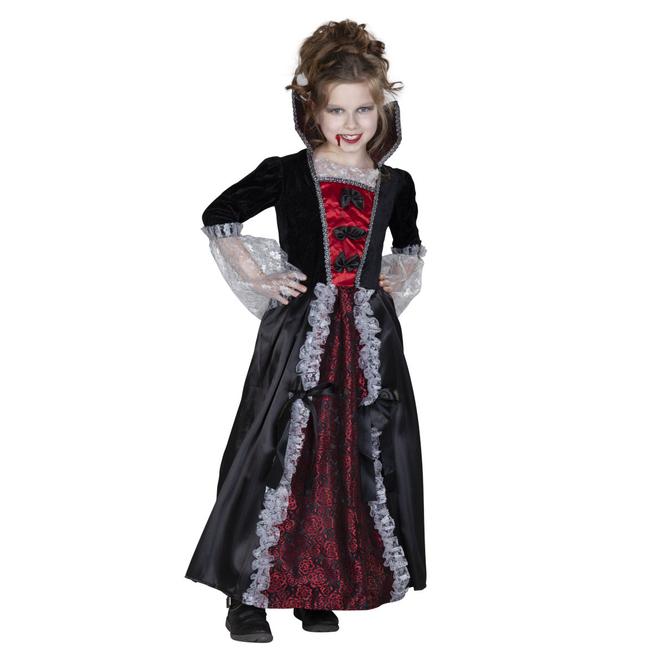 Kostüm - Vampirmädchen - für Kinder - Größe 122/128