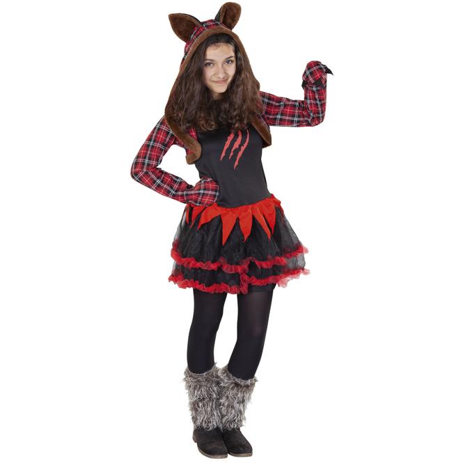 Kostüm - Werwolfmädchen - für Kinder - 2-teilig - Größe 170/176