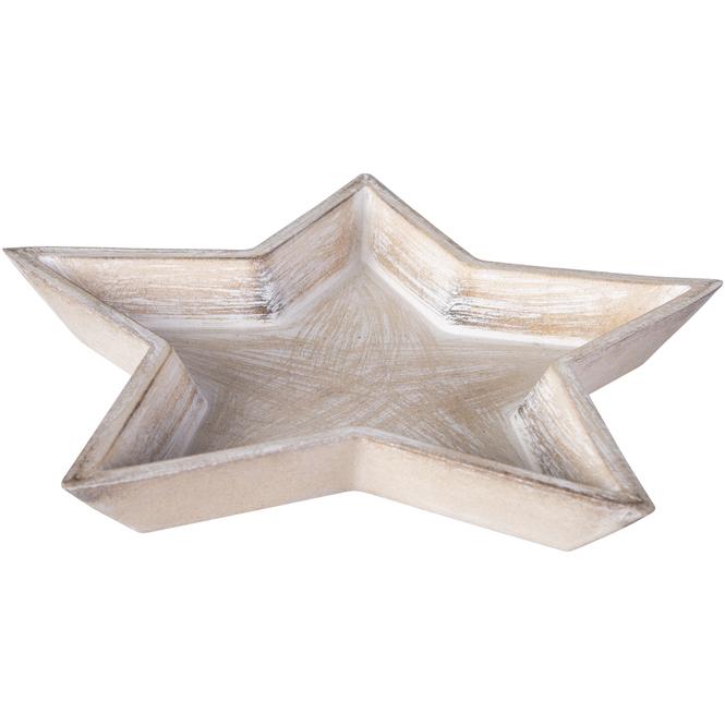 Dekoteller - Stern - aus Holz - verschiedene Größen