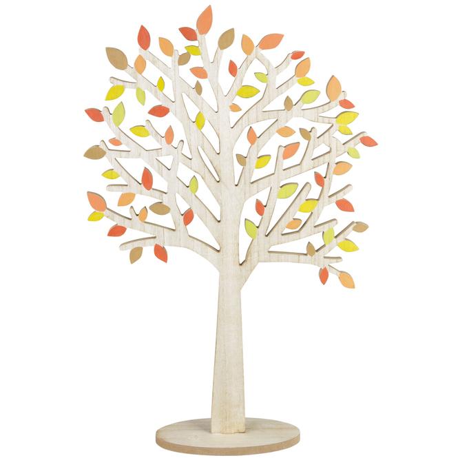 Standdeko - Baum - aus Holz - ca. 20 x 9 x 58,5 cm
