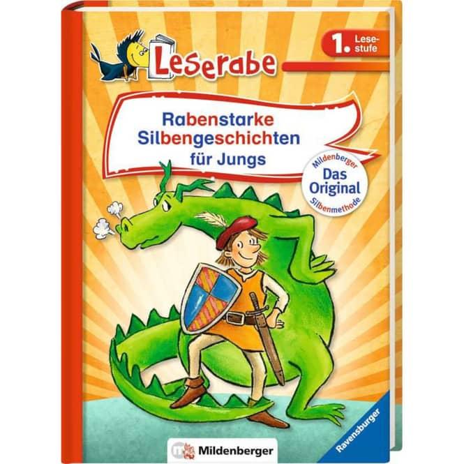 Leserabe - Rabenstarke Silbengeschichten für Jungs - 1. Lesestufe