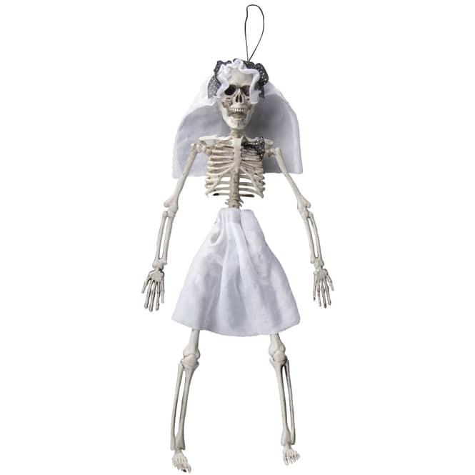 Dekohänger - Skelett - Braut - 40 cm