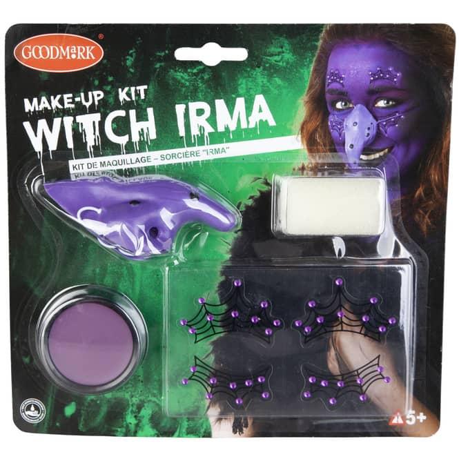 Schminkset - Hexe Irma - Make-up mit Zubehör