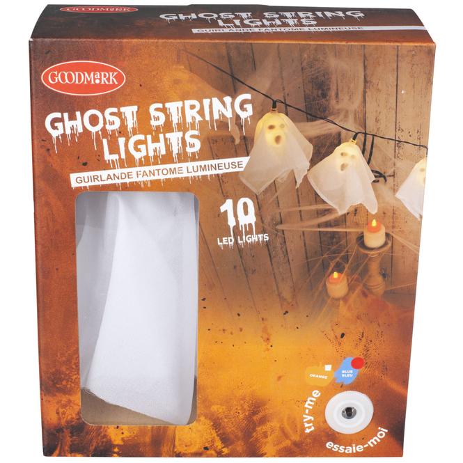 10er LED-Lichterkette - Geister - ca. 175 cm - 1 Stück
