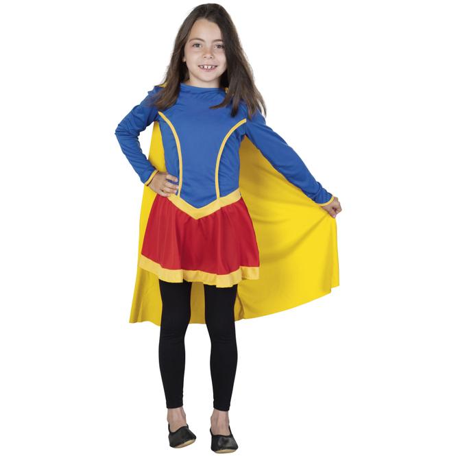 Kostüm - Heldin - für Kinder - 2-teilig - Größe 134/140