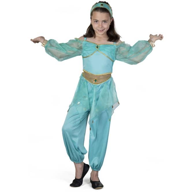 Kostüm - Wüstenprinzessin - für Kinder - 3-teilig - Größe 110/116