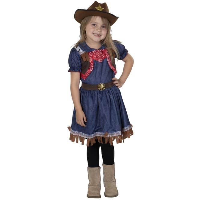 Kostüm - Kleines Cowgirl - für Kinder - Größe 122/128