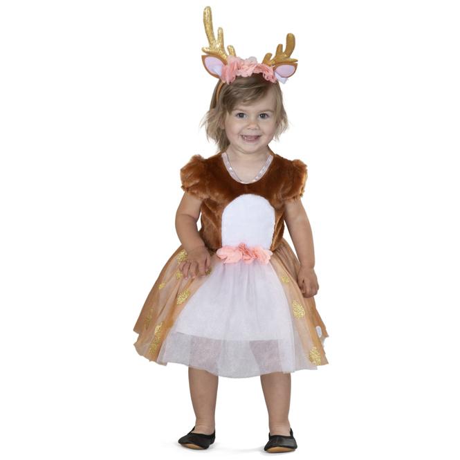 Kostüm - Kleines Reh - für Kinder - 2-teilig - Größe 110/116