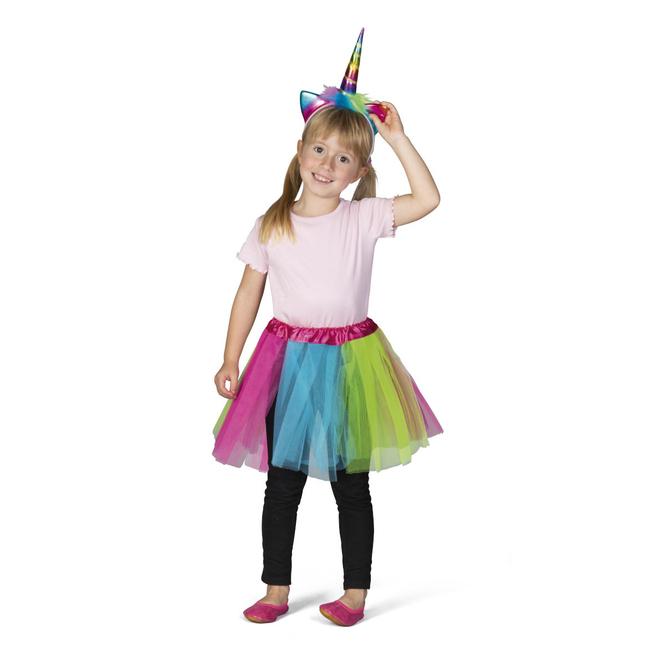 Faschingsset - Regenbogen-Einhorn - für Kinder - 2-teilig