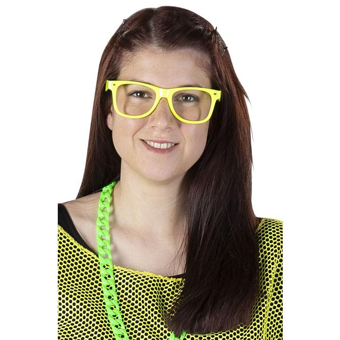 Brille - für Erwachsene - gelb