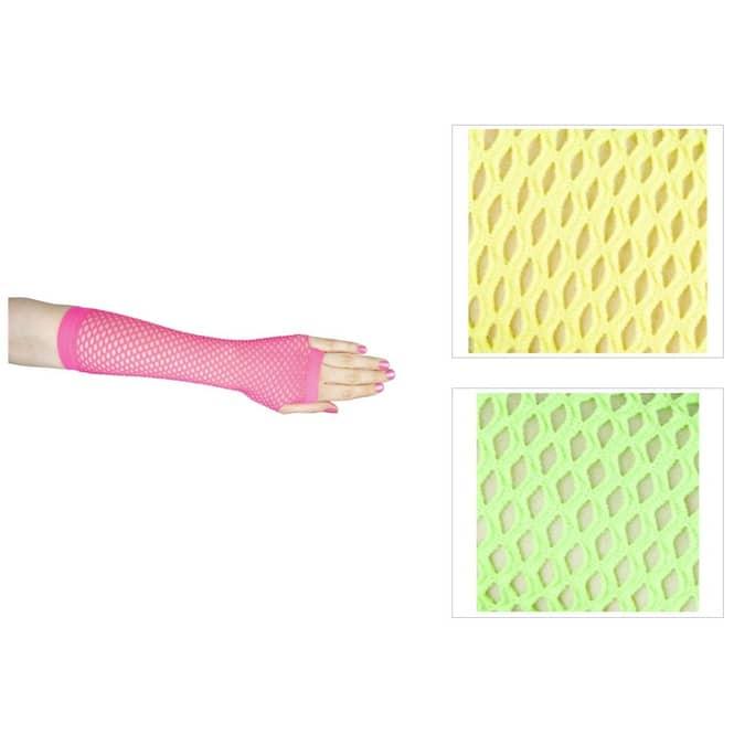 Netzhandschuhe - für Erwachsene - lang - schwarz
