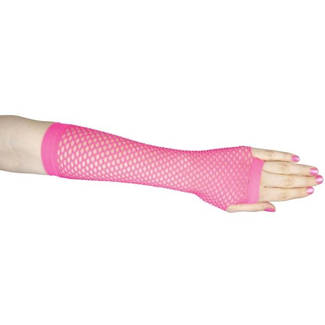 Netzhandschuhe - für Erwachsene - lang - pink