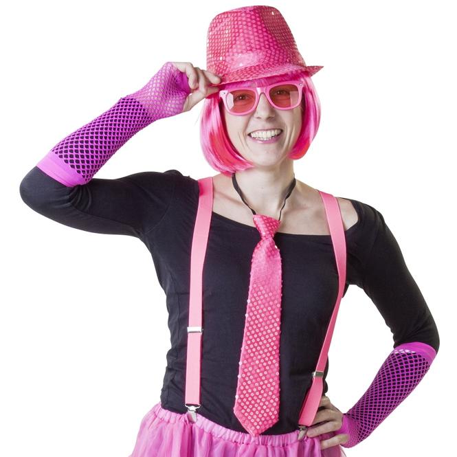 Krawatte - für Erwachsene - pink