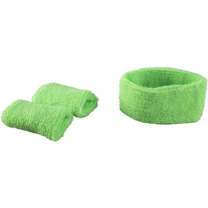 Schweißband-Set - 2-teilig - für Erwachsene -  grün