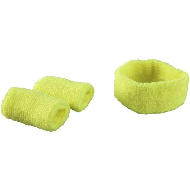 Schweißband-Set - 2-teilig - für Erwachsene -  gelb