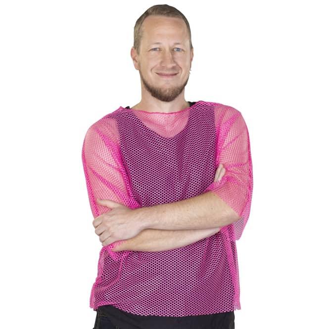 Netzoberteil - für Herren -  pink