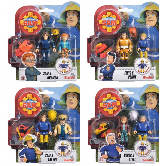 Feuerwehrmann Sam - Figurenset - 2 Stück - 1 Set