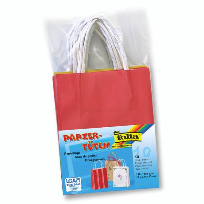 10 Papiertüten zum Basteln - Größe S - verschiedene Farben