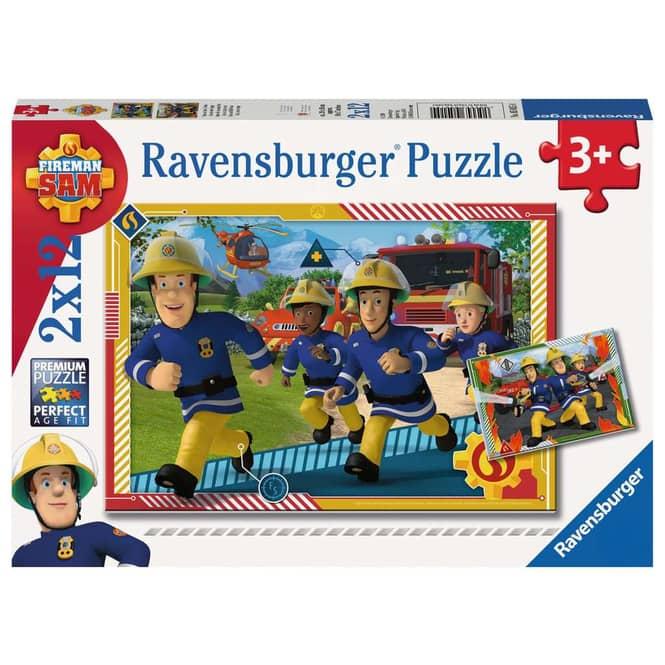 Kinderpuzzle - Sam und sein Team - 2 x 12 Teile
