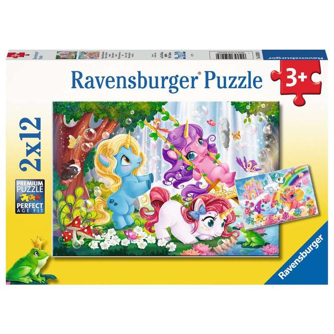 Kinderpuzzle - Magische Einhornwelt - 2 x 12 Teile