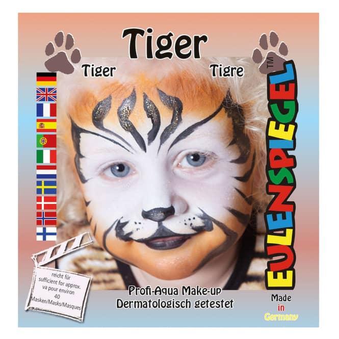 Schminkset - Tiger - Make-up mit Zubehör