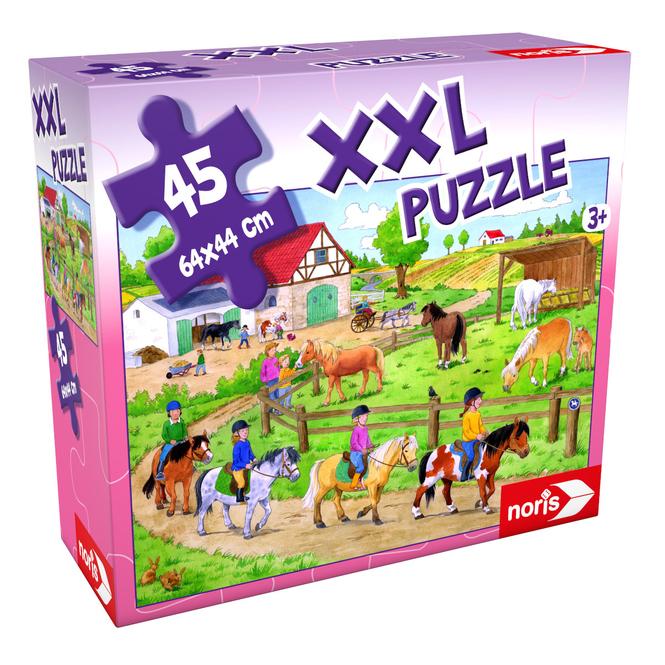 Bodenpuzzle - Ferien auf dem Ponyhof