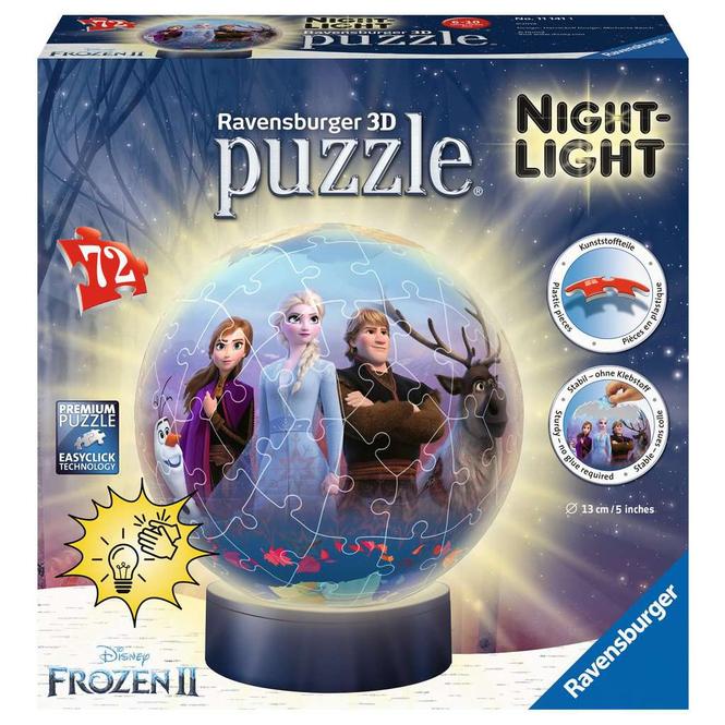3D Puzzleball - Die Eiskönigin 2 - mit Nachtlicht - 72 Teile