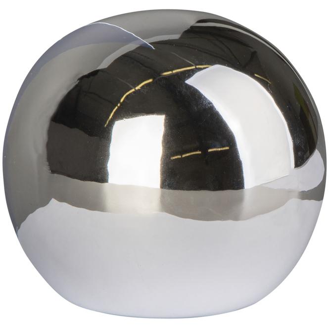 Dekokugel - aus Dolomit - Ø = 7,5 cm - silber