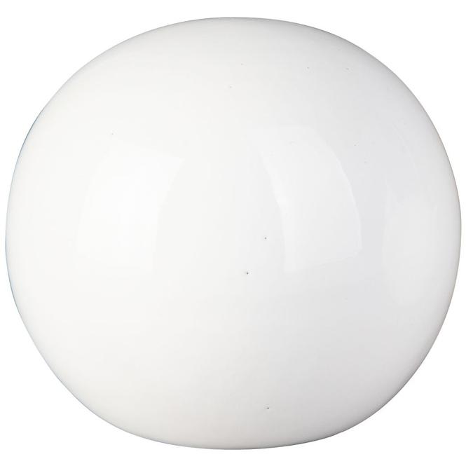 Dekokugel - aus Dolomit - Ø = 9,5 cm - weiß