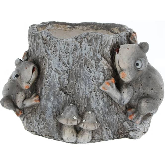 Pflanzgefäß - Baumstamm - aus Magnesia - 33 x 25 x 21 cm