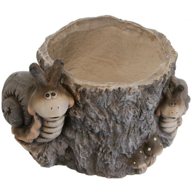 Pflanzgefäß - Baumstamm - aus Magnesia - 34,5 x 26 x 23 cm