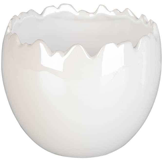 Pflanztopf - aus Dolomit - Ø = 13 cm - weiß