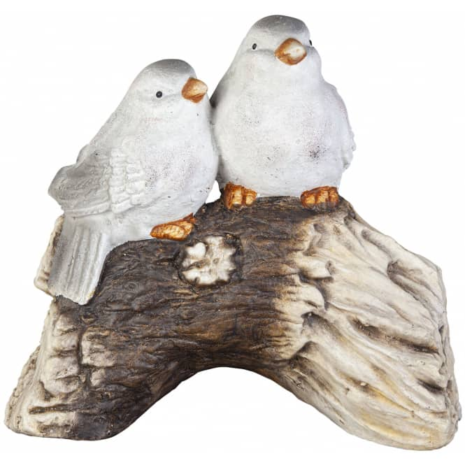 Dekovögel - aus Magnesia - 34 x 19,5 x 31 cm