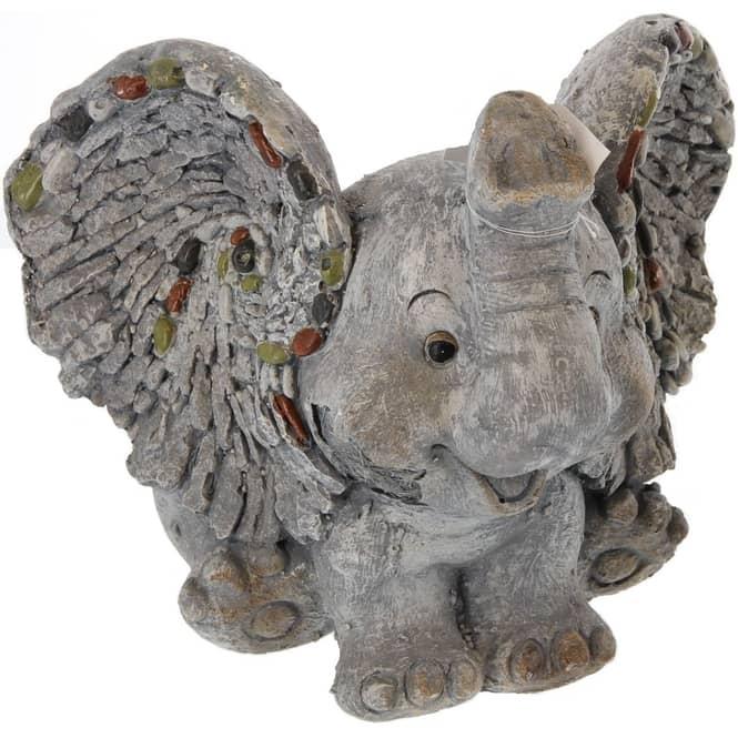 Pflanzgefäß - Elefant - aus Magnesia - 28 x 31 x 26 cm