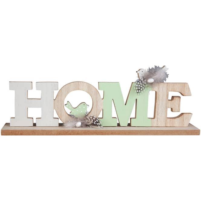 Deko-Schriftzug - Home - aus Holz - 31 x 5 x 10,5 cm