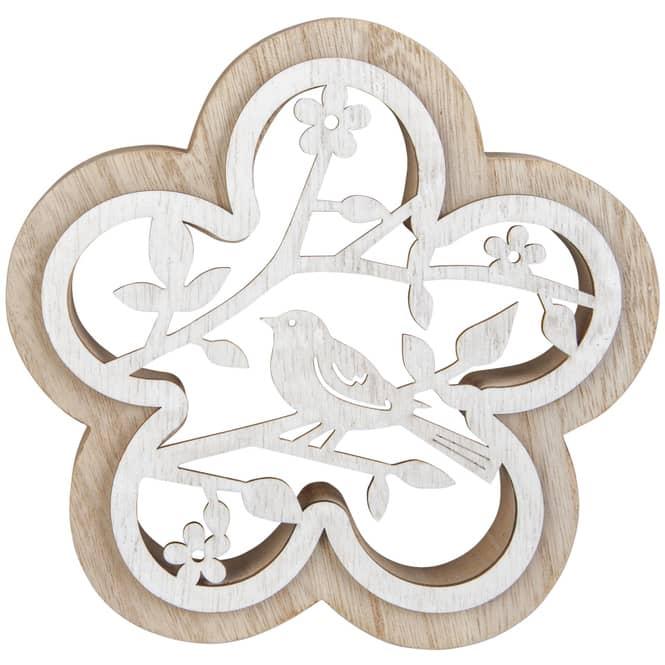 Dekoblume - aus Holz - Ø = 15 cm
