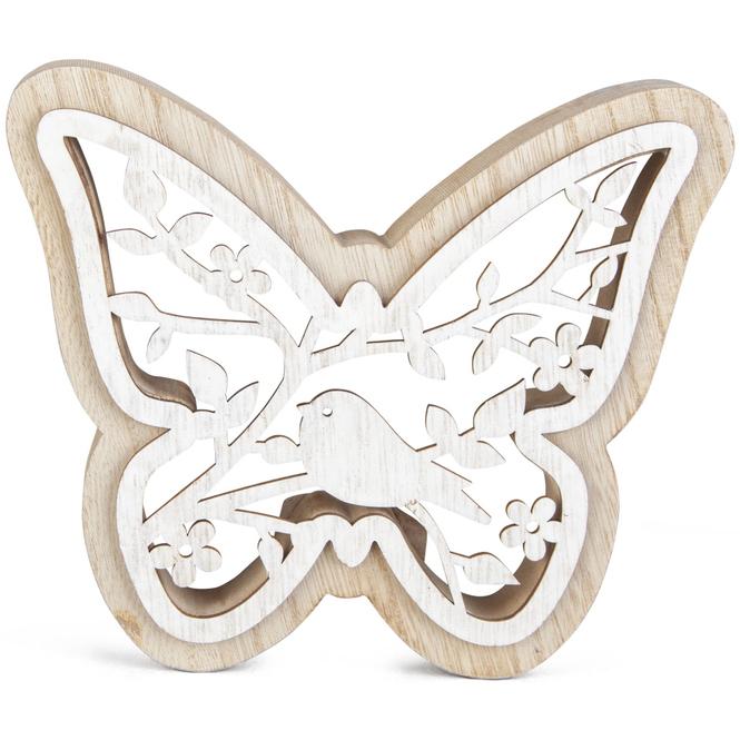 Schmetterling - aus Holz - 17 x 2,5 x 15 cm