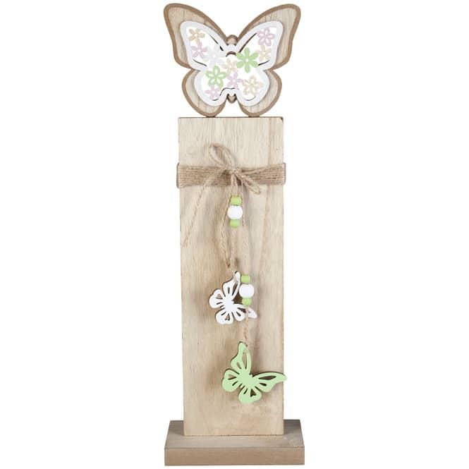 Standdeko - Schmetterling - aus Holz - 15 x 8 x 48,5 cm