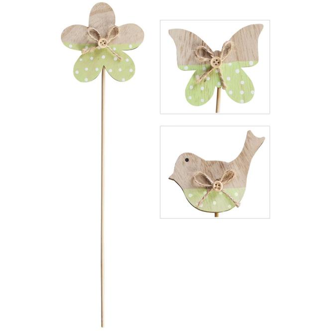 Pflanzenstecker - Frühling - aus Holz - 32 cm